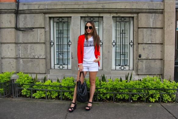 OOTD - White shorts 1