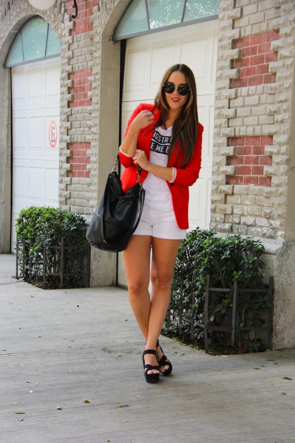 OOTD - White shorts 6