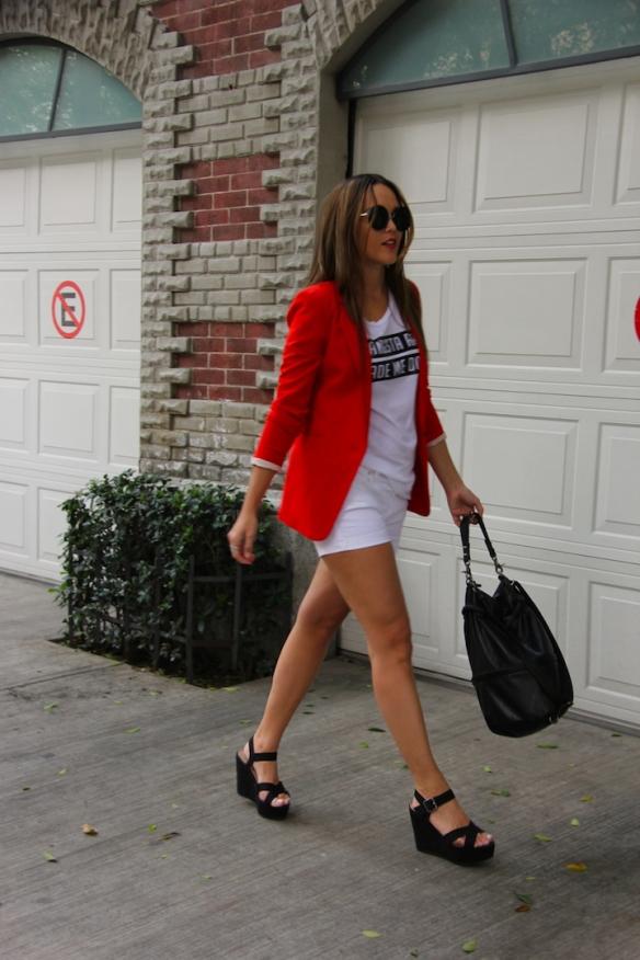 OOTD - White shorts 9